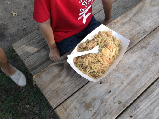 Pancit from the Filipino food stand.