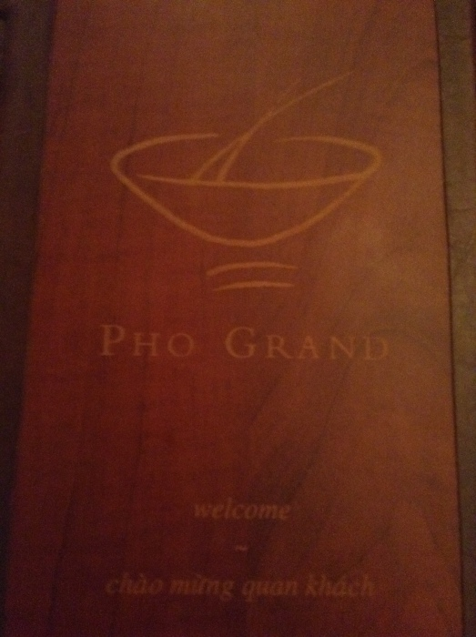 Pho Grand has a very extensive menu